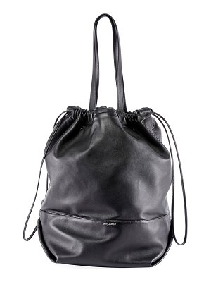 Saint Laurent Harlem Large Leather Bucket Bag