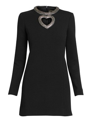 Saint Laurent heart cutout mini dress