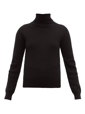 Saint Laurent high neck ribbed cashmere sweater