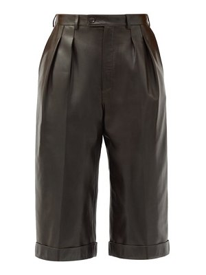 Saint Laurent high-rise leather bermuda shorts
