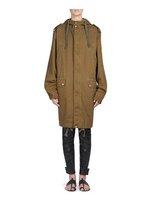 Saint Laurent hooded army parka