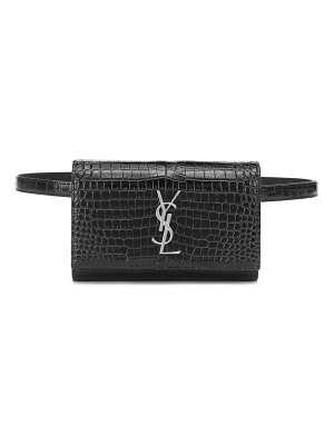 Saint Laurent kate croc-effect leather belt bag