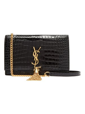 Saint Laurent kate crocodile effect leather cross body bag