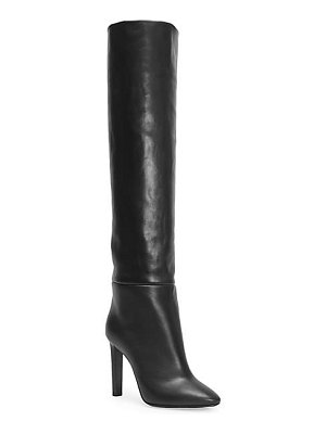 Saint Laurent kate leather boots
