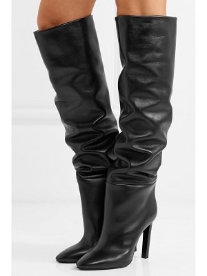 Saint Laurent kate leather knee boots