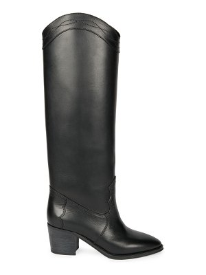 Saint Laurent kate leather western boots