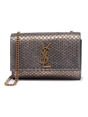 Saint Laurent Kate Monogram YSL Small Python-Effect Crossbody Bag