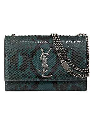 Saint Laurent Kate New Small YSL Monogram Python Crossbody Bag