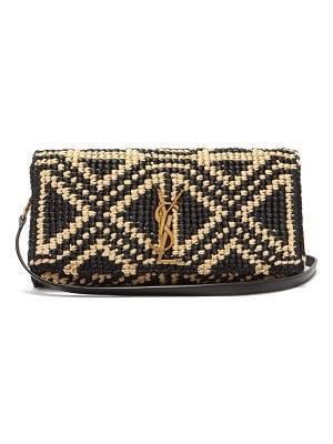 Saint Laurent kate woven-raffia cross-body bag