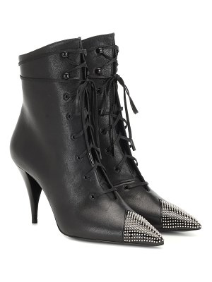 Saint Laurent kiki 100 leather ankle boots