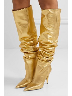 Saint Laurent kiki metallic leather over-the-knee boots