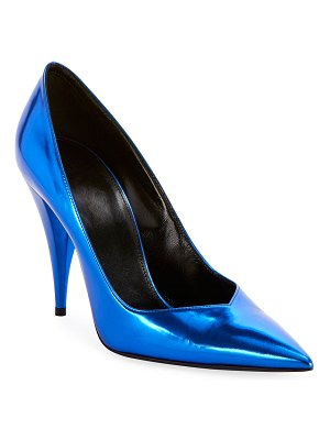 Saint Laurent Kiki Mirror Pointed Pumps