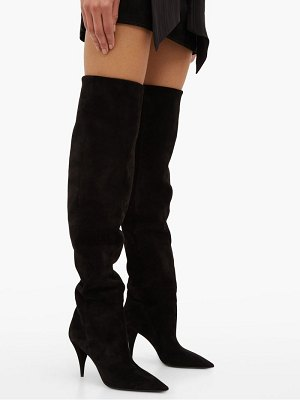 Saint Laurent kiki over the knee suede boots