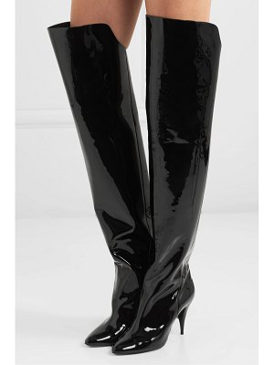 Saint Laurent kiki patent-leather over-the-knee boots