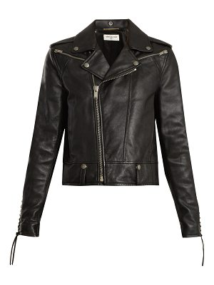 Saint Laurent Lace-up motorcycle leather jacket