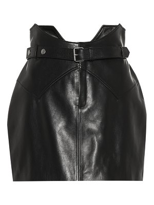 Saint Laurent Leather miniskirt