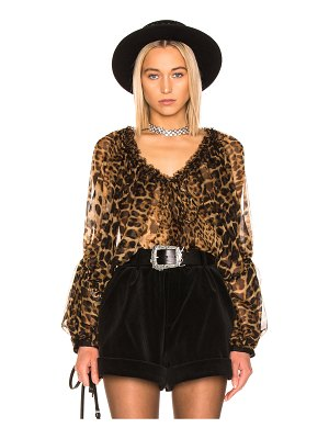 Saint Laurent leopard blouse