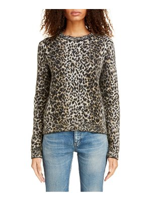 Saint Laurent leopard jacquard sweater