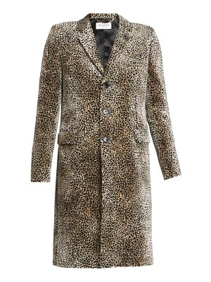 Saint Laurent leopard-print single-breasted coat