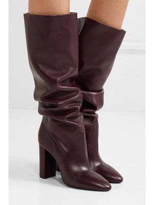 Saint Laurent lou leather knee boots