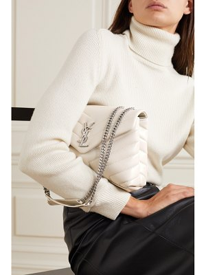 Saint Laurent loulou small quilted leather shoulder bag - off-white