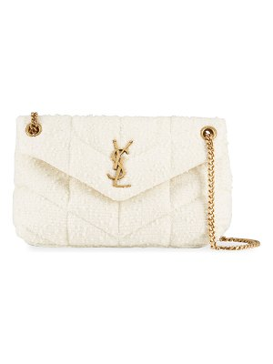 Saint Laurent LouLou Small Quilted Tweed YSL Shoulder Bag