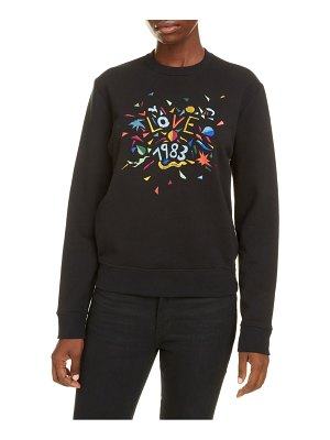 Saint Laurent love 1983 embroidered sweatshirt