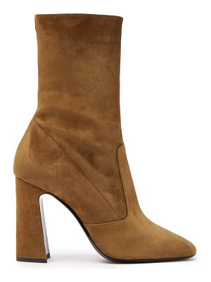 Saint Laurent maddie square-toe suede ankle boots
