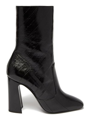 Saint Laurent maddie squared-toe patent-leather ankle boots