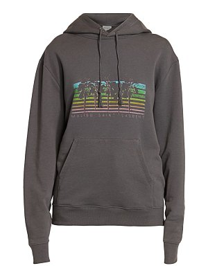Saint Laurent malibu graphic hoodie