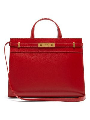 Saint Laurent manhattan small leather tote bag