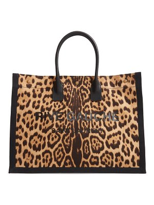 Saint Laurent noe leopard canvas tote