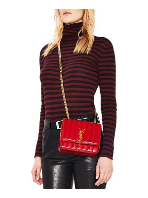 Saint Laurent Small Patent Monogramme Vicky Chain Bag