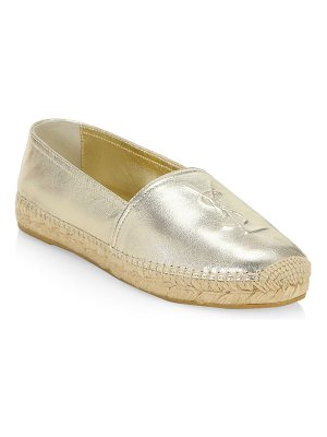 Saint Laurent metallic leather espadrilles