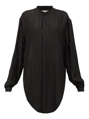 Saint Laurent metallic-striped pplin shirt