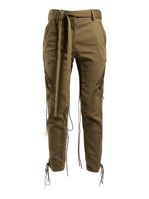 Saint Laurent Mid Rise Tie Waist Trousers