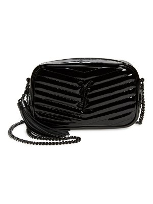 Saint Laurent mini matelasse patent leather camera crossbody bag