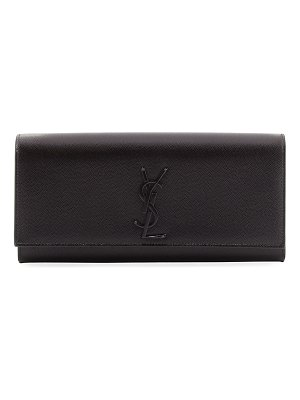 Saint Laurent Monogram Calfskin Clutch Bag