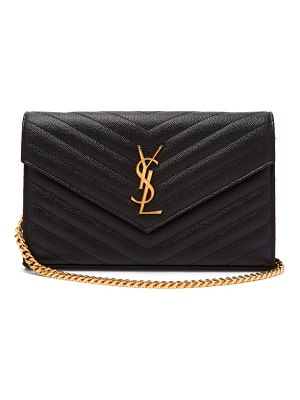 Saint Laurent monogram chevron quilted leather cross body bag