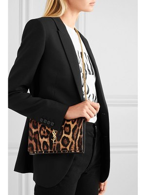 Saint Laurent monogramme leopard-print calf hair shoulder bag