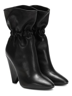 Saint Laurent niki 105 leather ankle boots