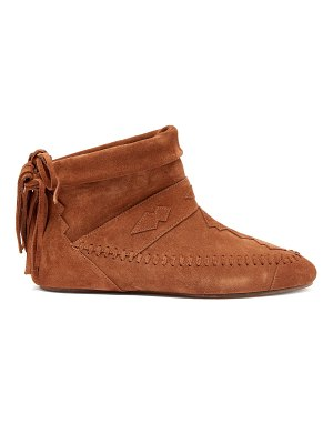 Saint Laurent Nino Fringed Suede Ankle Boots