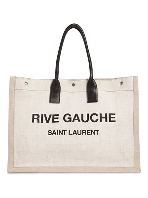 Saint Laurent Noe logo printed canvas tote bag