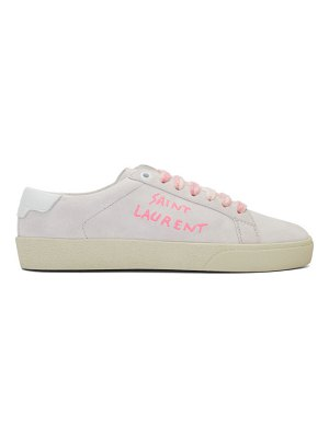 Saint Laurent off-white and pink court classic sneakers
