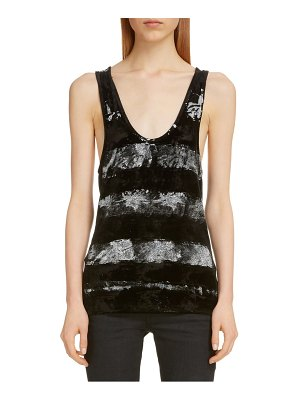 Saint Laurent paint stripe woven tank
