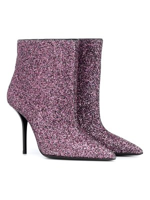 Saint Laurent Pierre 95 glitter ankle boots