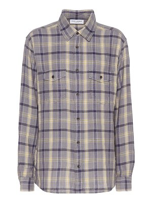 Saint Laurent plaid cotton shirt