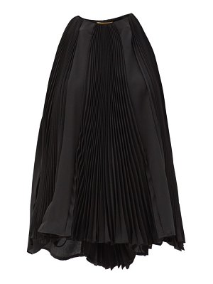 Saint Laurent pleated silk-georgette trapeze blouse
