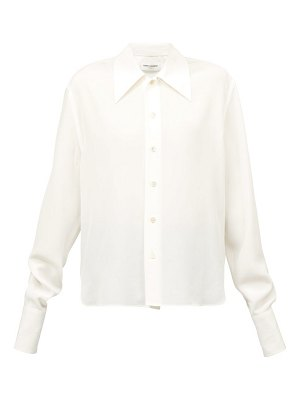 Saint Laurent relaxed cotton-poplin blouse