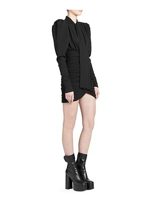 Saint Laurent puff sleeve mini dress
